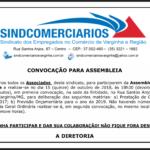 15 de Outubro – Assembleia de Prestação de Contas