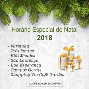 Horário Especial Facultativo – Natal 2018