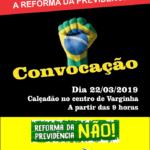 Ato Público Contra a Reforma da Previdência em Varginha