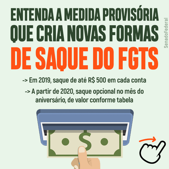 Saque FGTS – Novas Regras MP889/2019