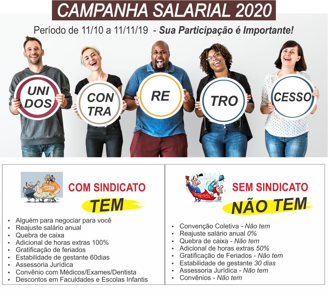 Campanha Salarial 2020 – Unidos Contra o Retrocesso