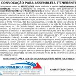Convocação Assembleia Itinerante – Campanha Salarial 2020