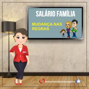 SALÁRIO FAMÍLIA – Emenda Constitucional nº 103/2019