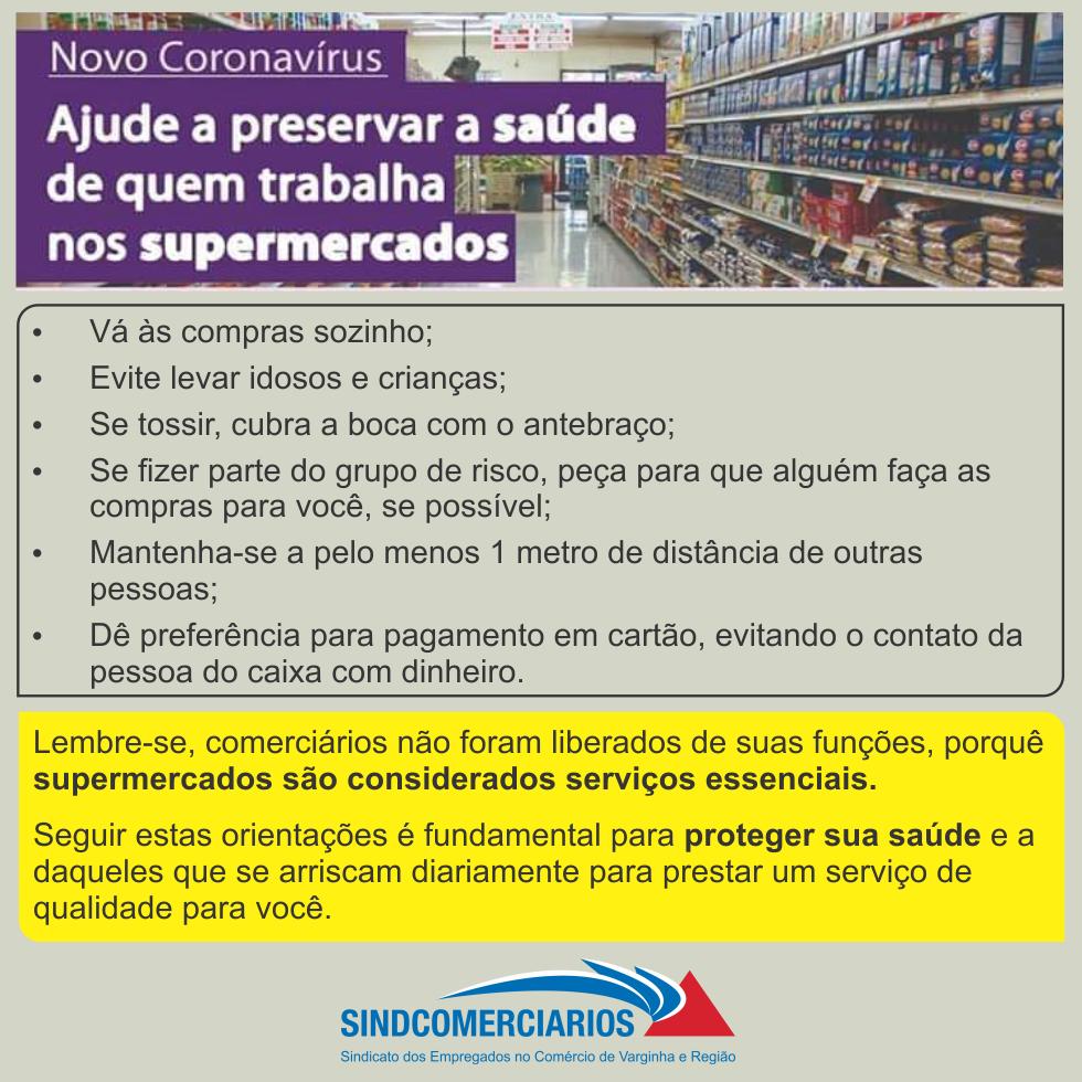 Ajude a Preservar a Saúde de Quem Trabalho nos Supermercados