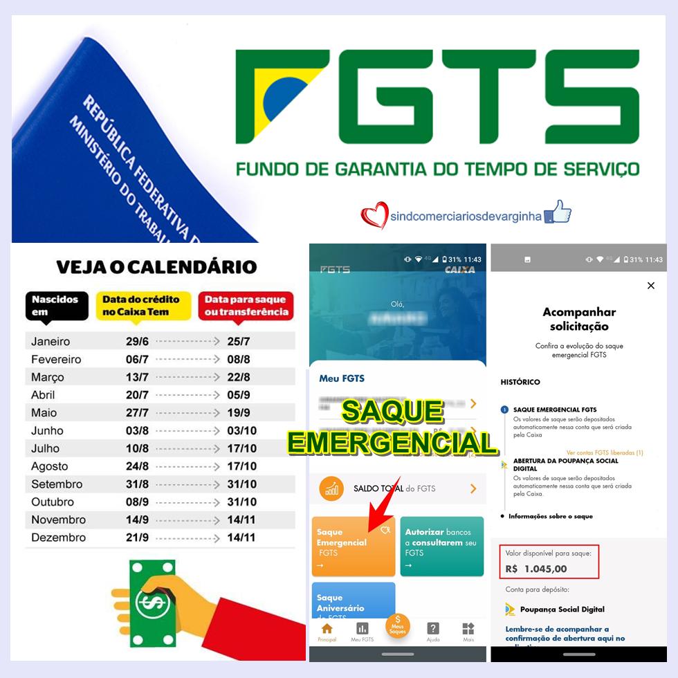 Saque Emergencial – FGTS (Tira Dúvidas)