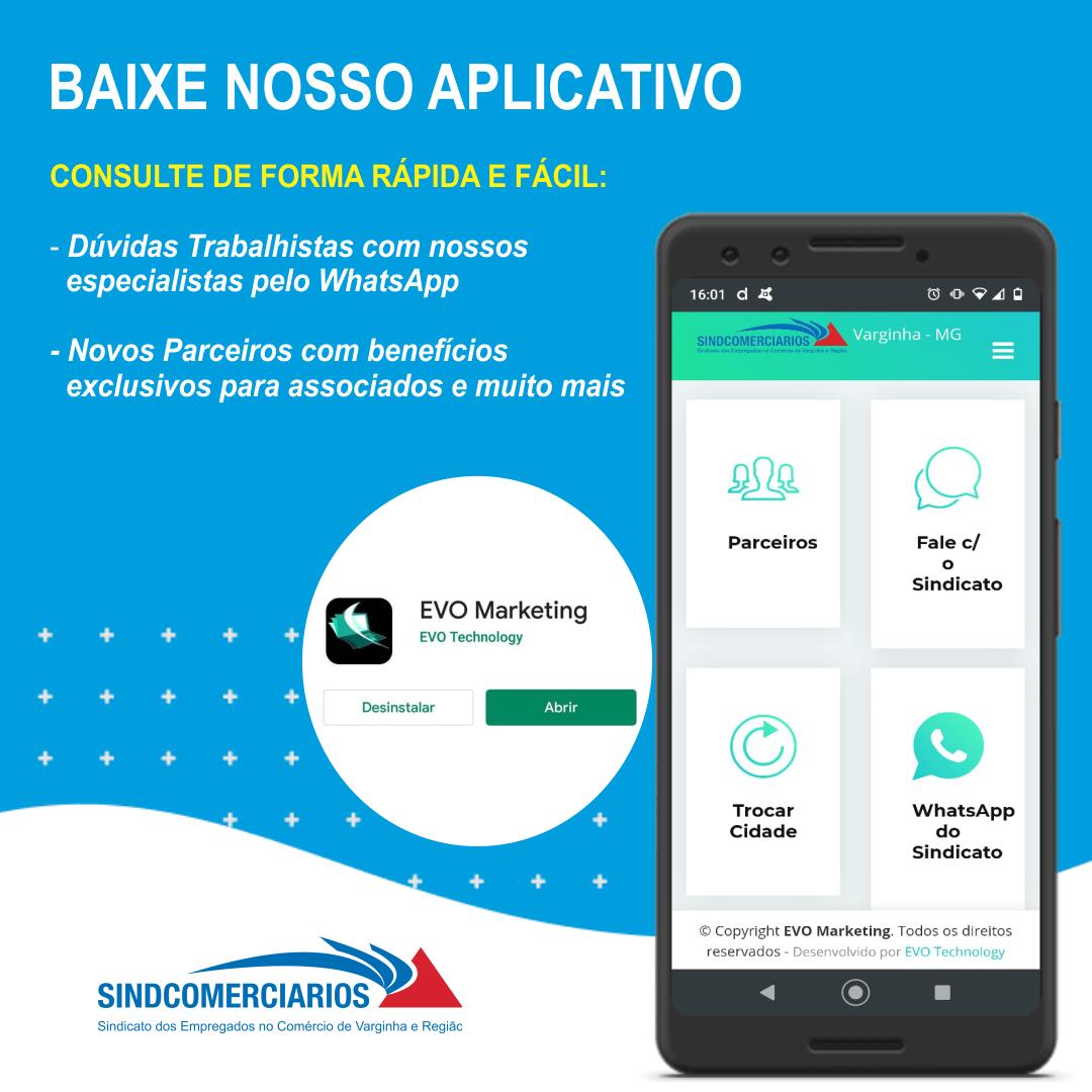 Conheça o App do Sindcomerciários – Evo Marketing