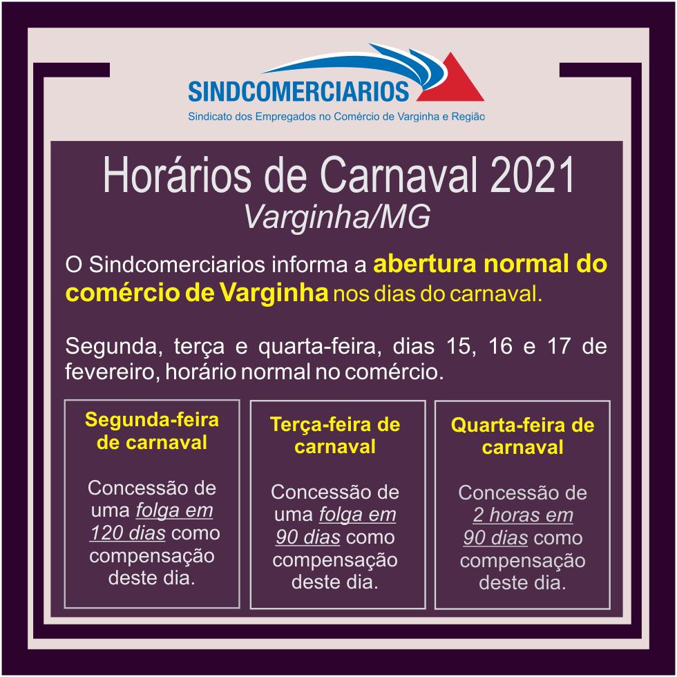 Comércio de Varginha Vai Funcionar no Carnaval